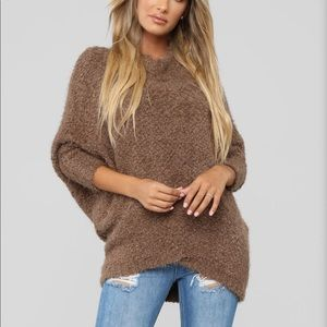 Chenille oversized sweater